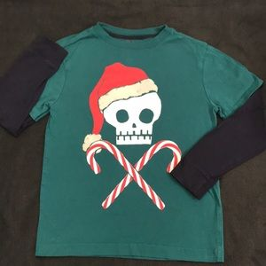 💐 5/$25 Gymboree Christmas Skull shirt  7/8 boys